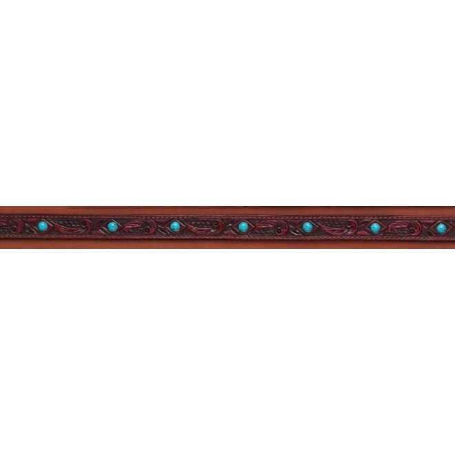 Leather Floral Tooled Hatband