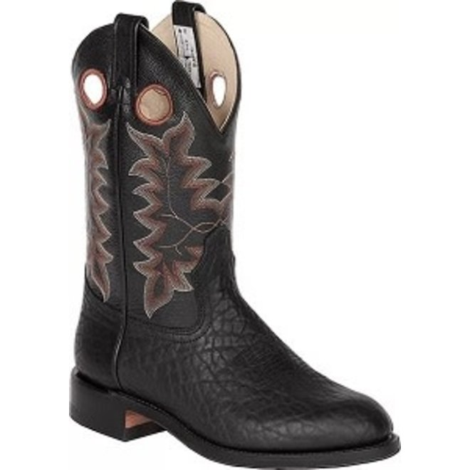 Mens Black Bullhide Roper Boot