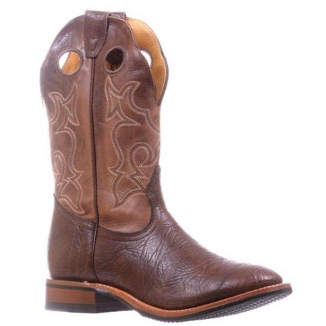Mens Two Tone Brown Roper Boot