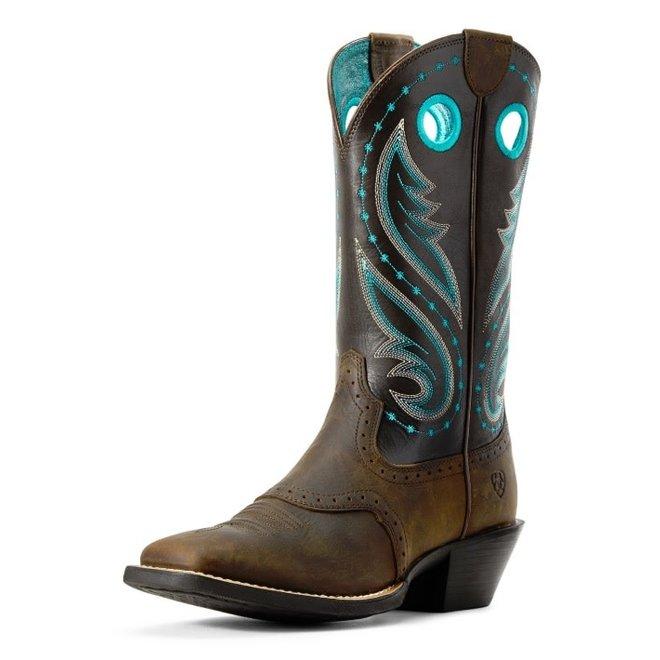 Ladies Dark Java Square Toe Boot