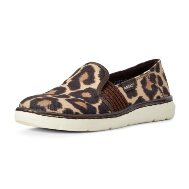 Ladies Leopard Slip On Shoe
