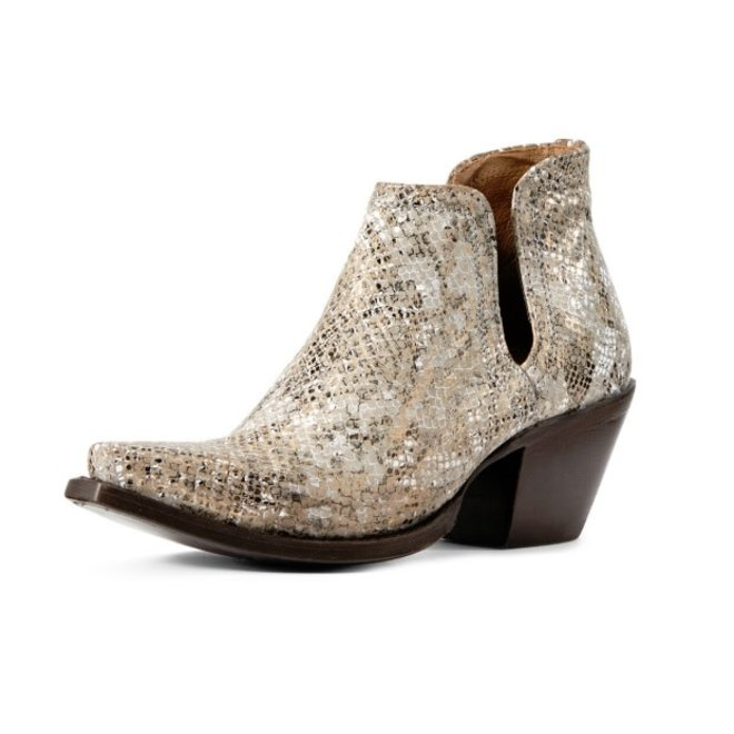 Ladies Metalic Silver Dixon Bootie