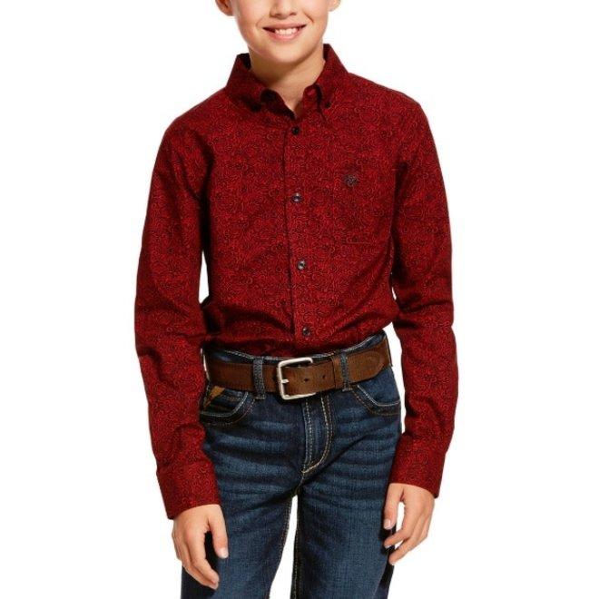 Boys Cranberry Dalanzo Print Shirt