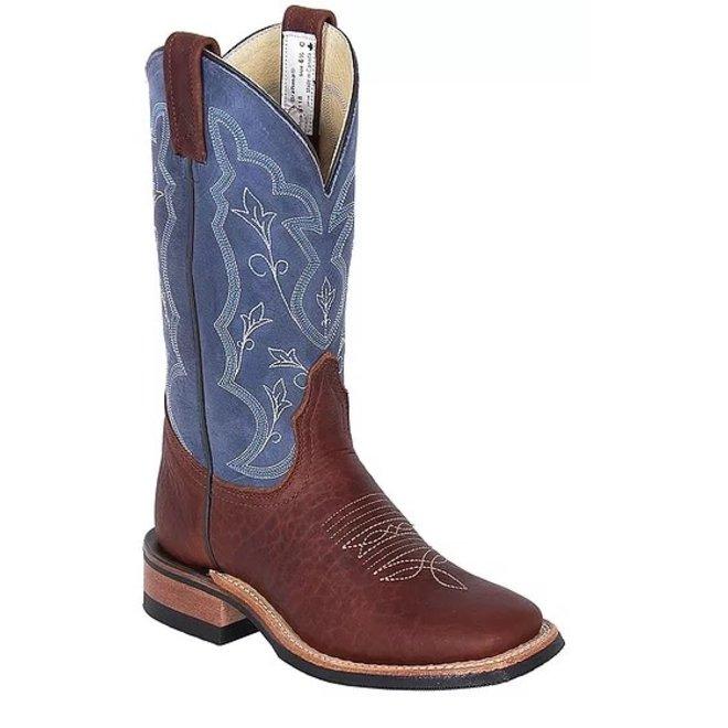Ladies Pecan Bison Roper Boot