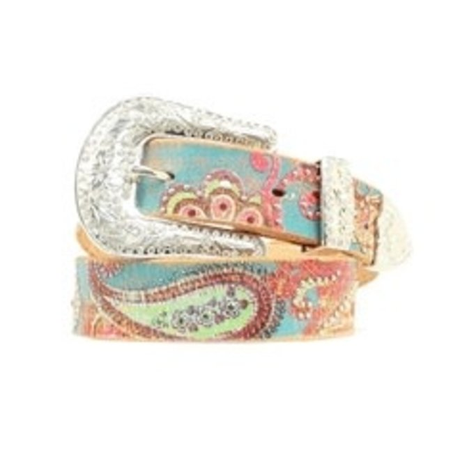 Ladies Floral Painted Belt