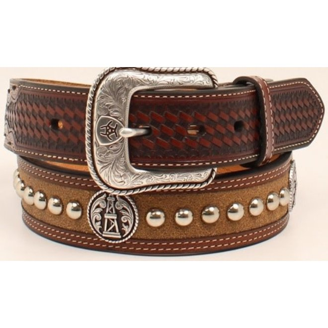 Mens Oil Rig Aged Bark Belt