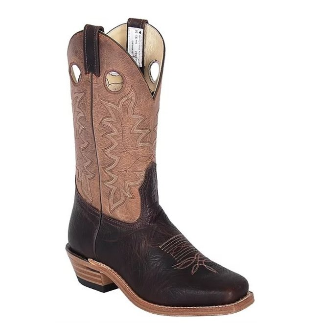 Mens Brown Oiled Bullhide Buckaroo Boot