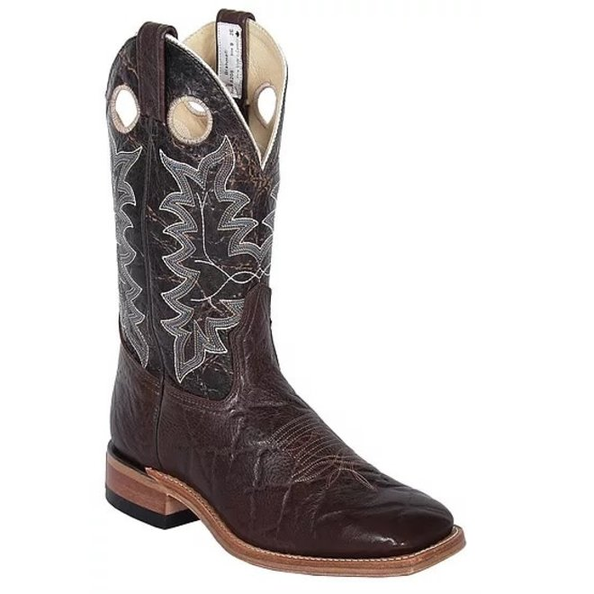 Mens Chocolate Ranchman Roper Boot