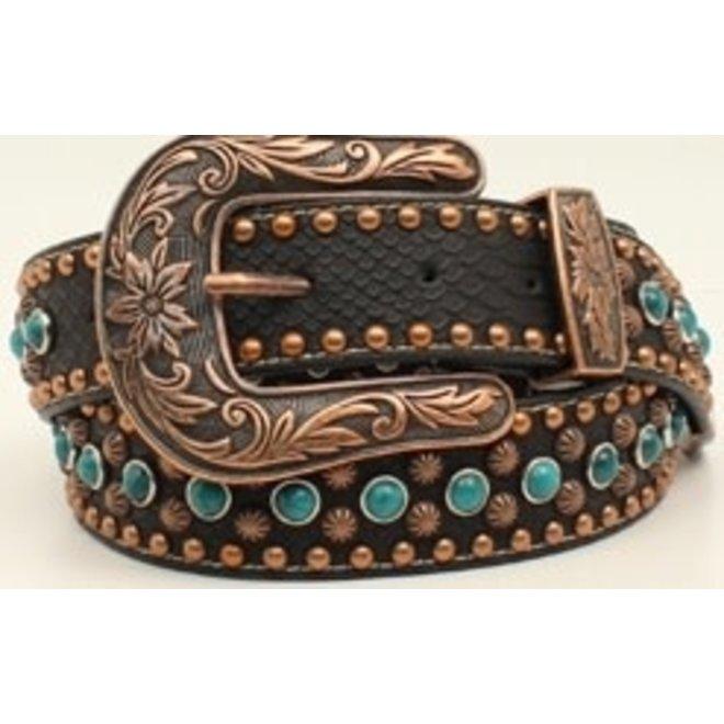 Ladies Turquoise Studded Belt
