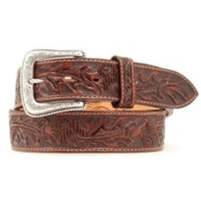 Mens Acorn Tooled Belt