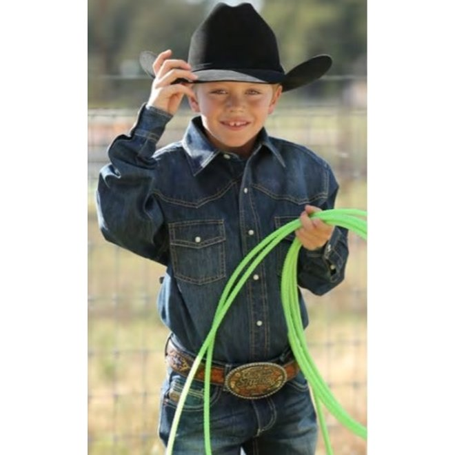 Boys Cinch Denim Shirt
