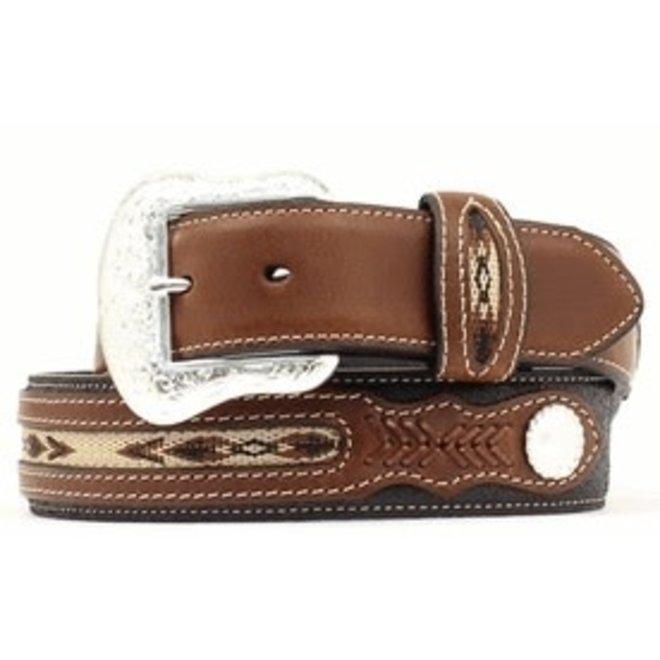 Nocona Mens Top Hand Southwest Inlay Belt