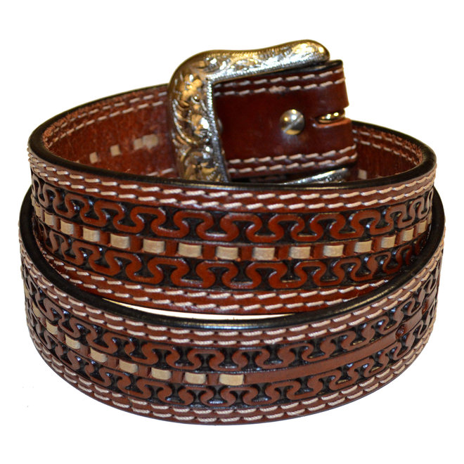 Lthr Tooled RH B/S Belt