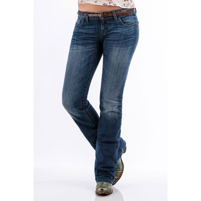 Ladies Abby Med Stone Jean