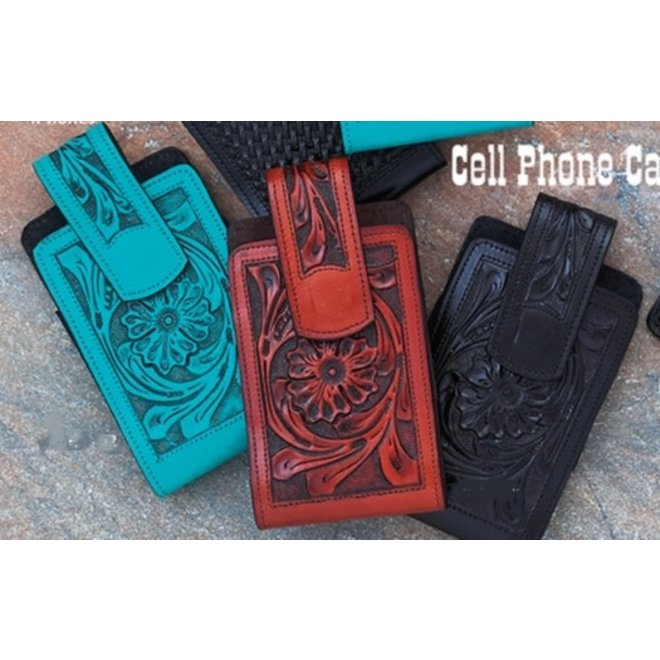 Floral Tooled Phone Case