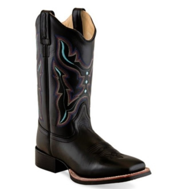 Ladies' Black Square Toe Boot