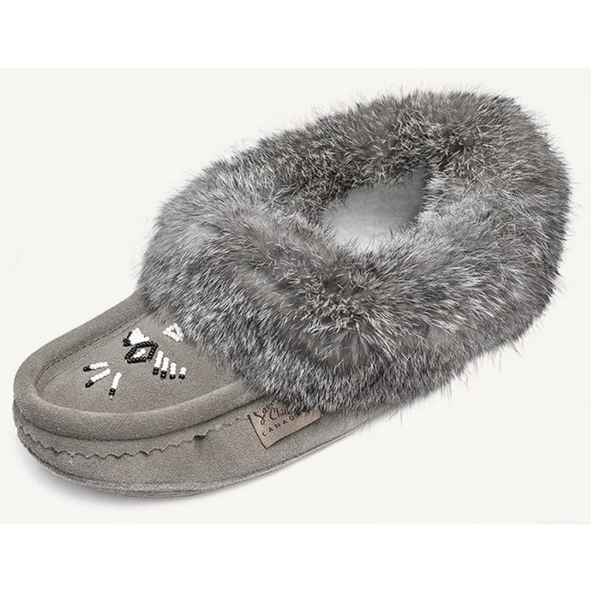 Ladies Grey Slipper