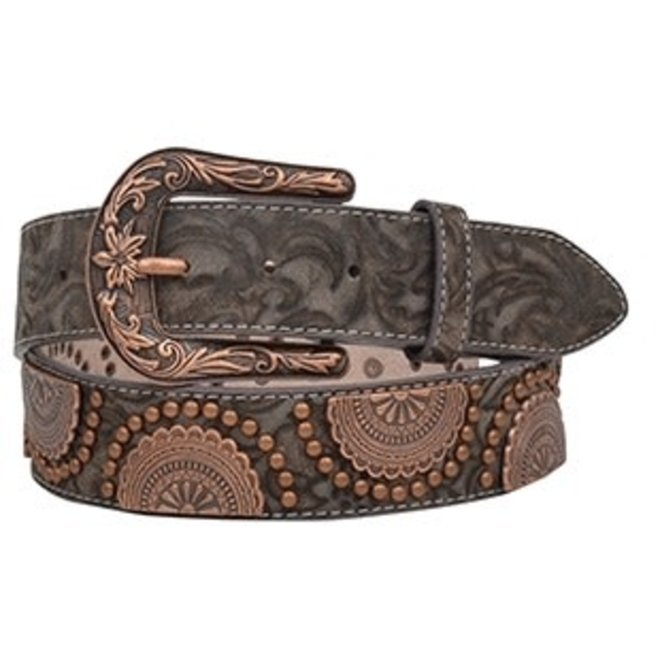 Ladies Copper Swirl Belt