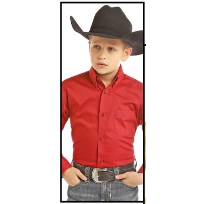 Boys Red Button Shirt