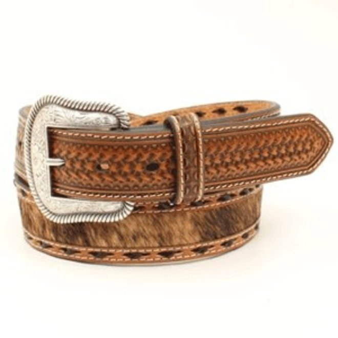 Mens Hair On Laced Belt
