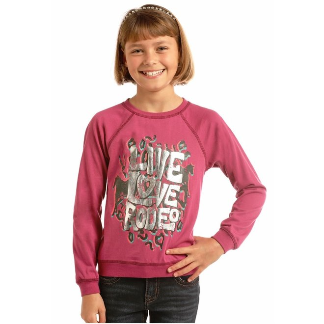 Girls Pink Graphic Tee