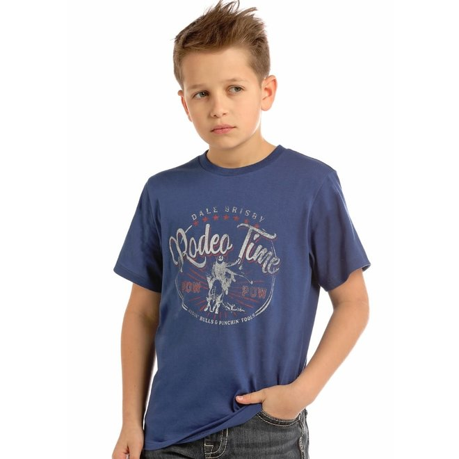 Boys Navy Dale Brisby Tee