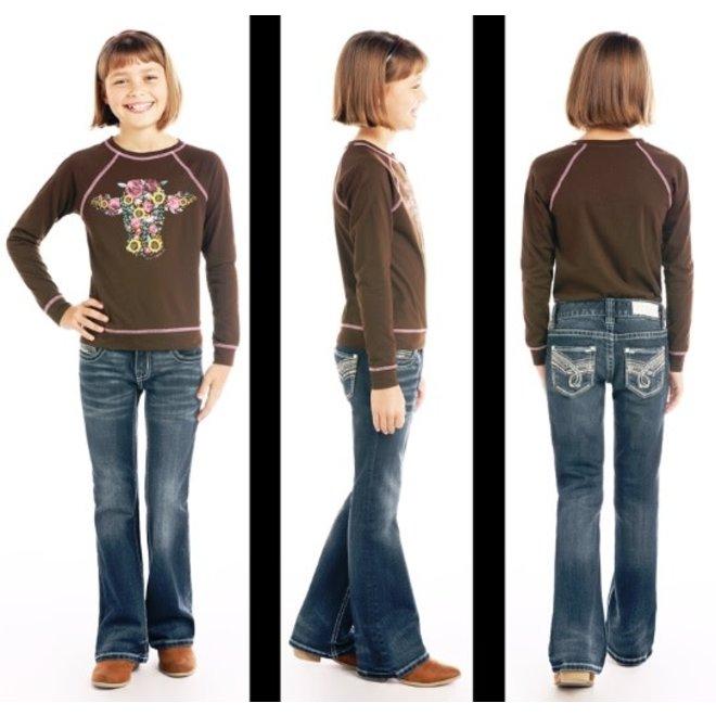 Girls Dark Wash Bootcut Jean
