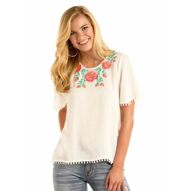 Junior Ladies Embroidered Top