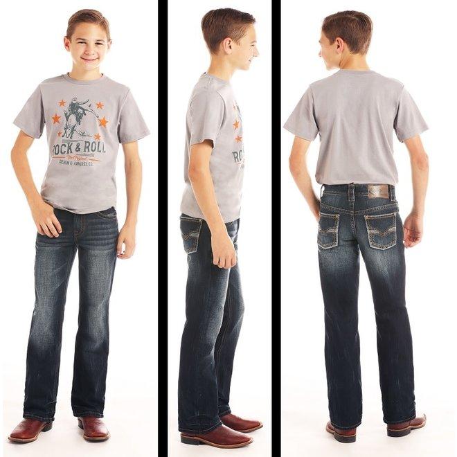 Boys BB Gun Dark Wash Regular Fit Jean