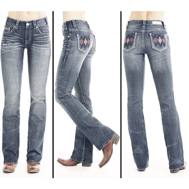 Junior Ladies Extra Stretch Mid Rise Jean