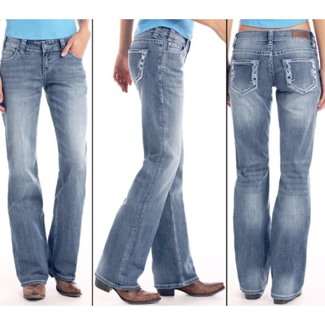 Junior Ladies Light Vintage Wash Riding Jean