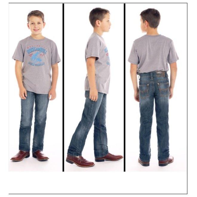 Boys Revolver Fit Medium Wash Jean