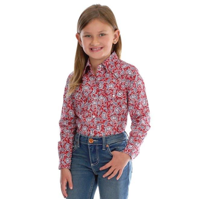 Girls' Paisley Print Western Snap Shirt