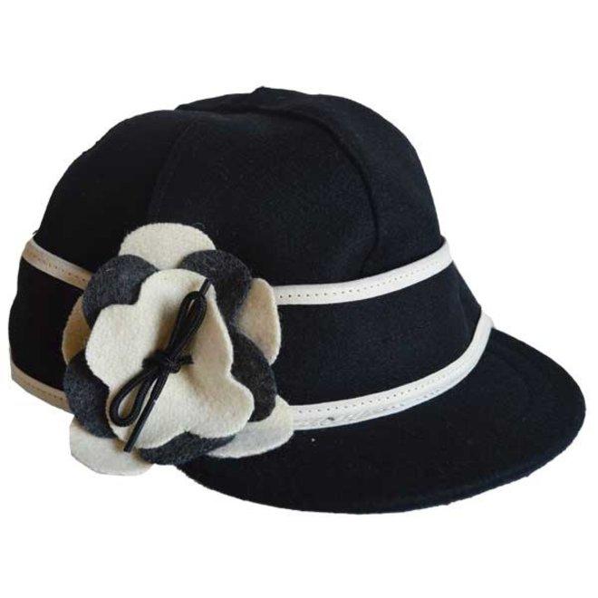Petal Pusher Wool Cap Blk/Wht