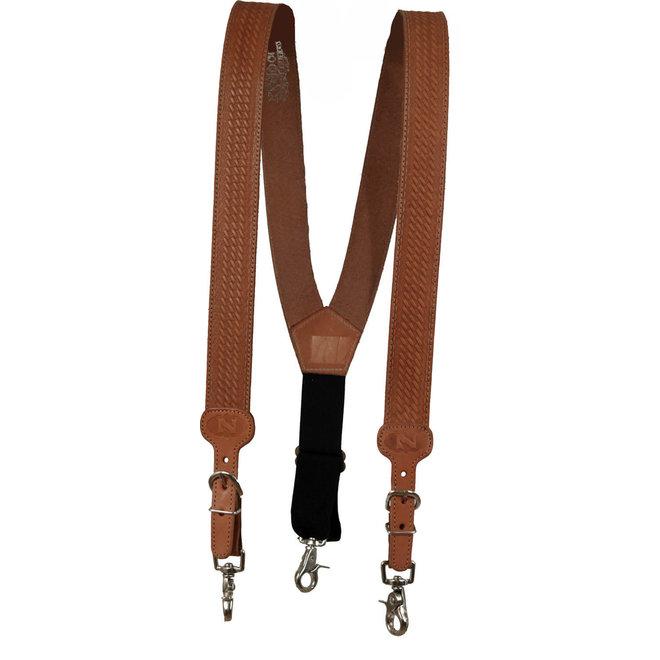 Basket Stamped Leather Suspender