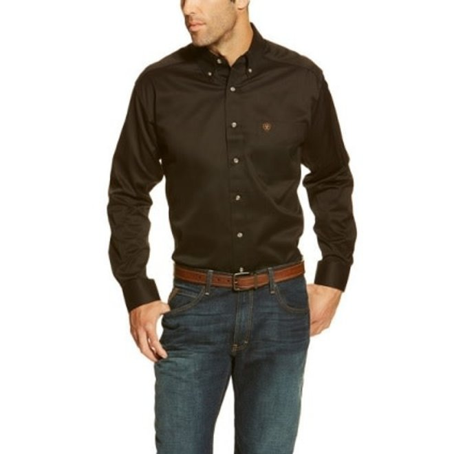 Mens BLK Solid Twill Shirt