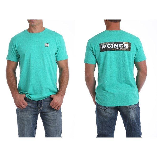 Mens Teal Cinch Logo Tee