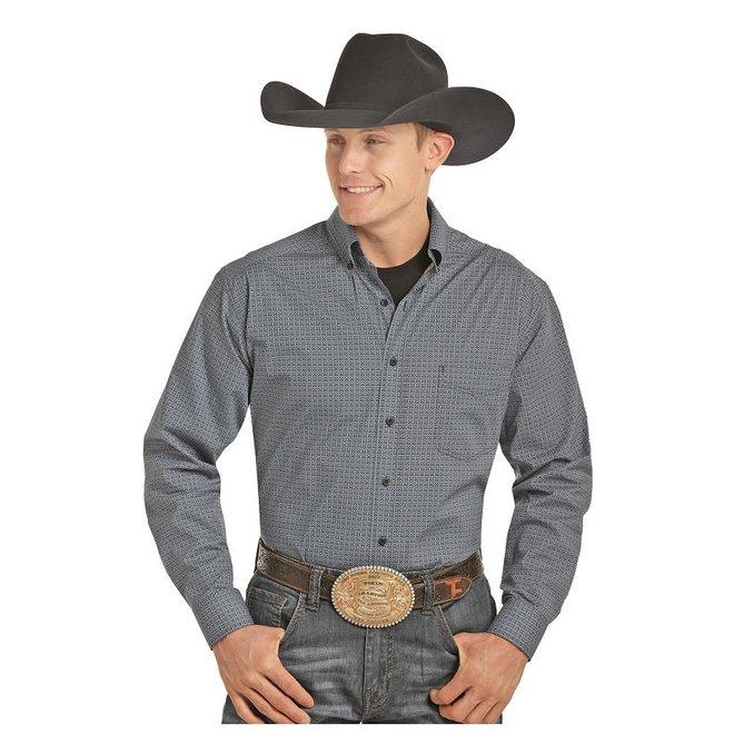 Mens TC Button Poplin Print Shirt