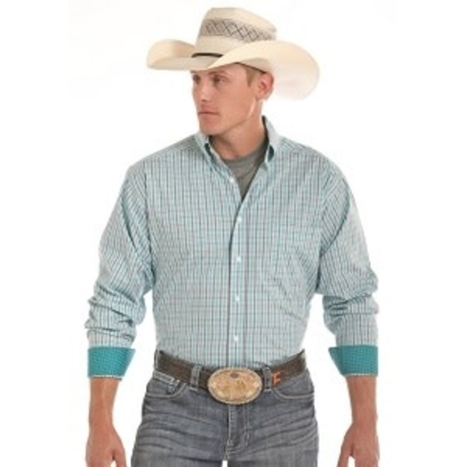 Mens TC Turquoise Check Shirt