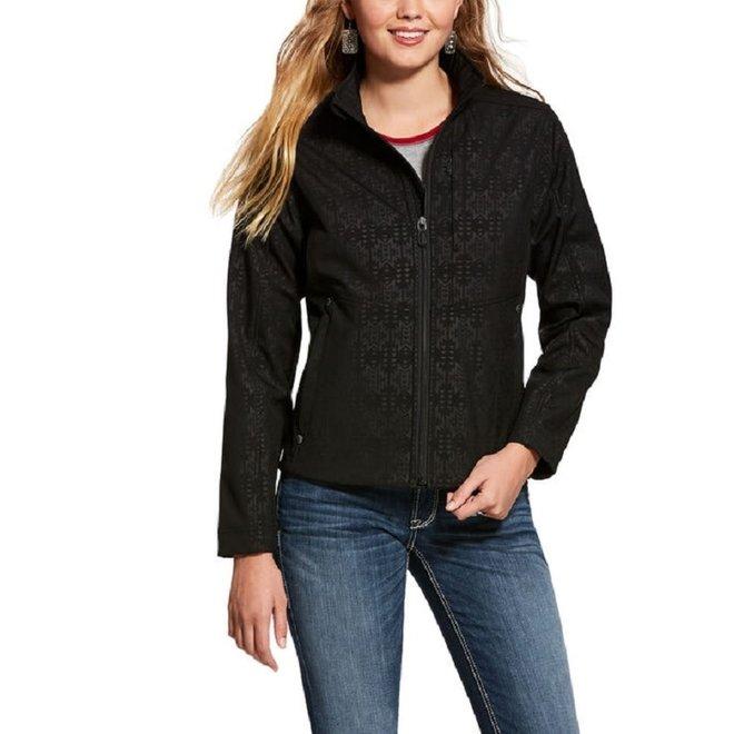 Ladies REAL Black Aztec Jacket