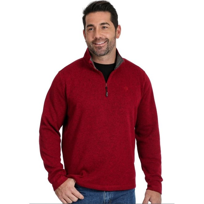 Mens Red 1/4 Zip Pullover