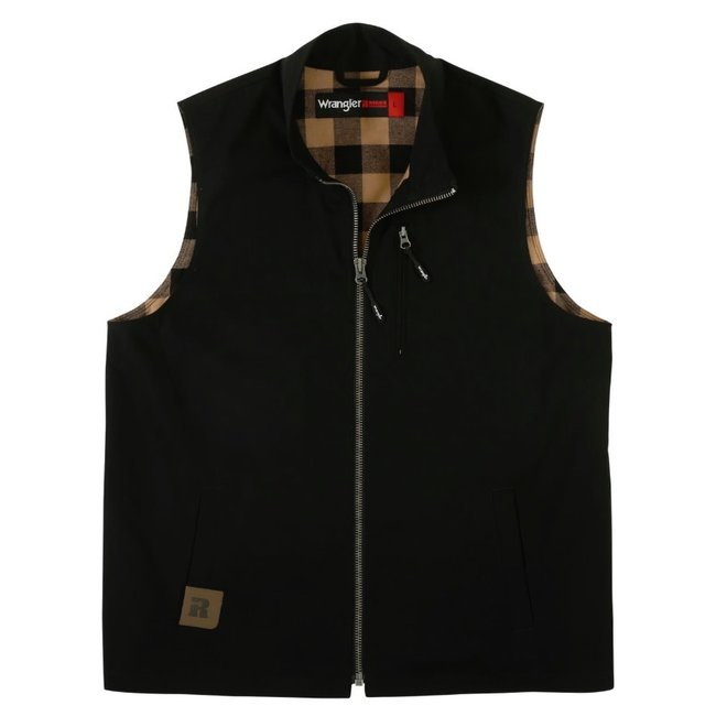 Mens Flannel Lined Canvas Vest