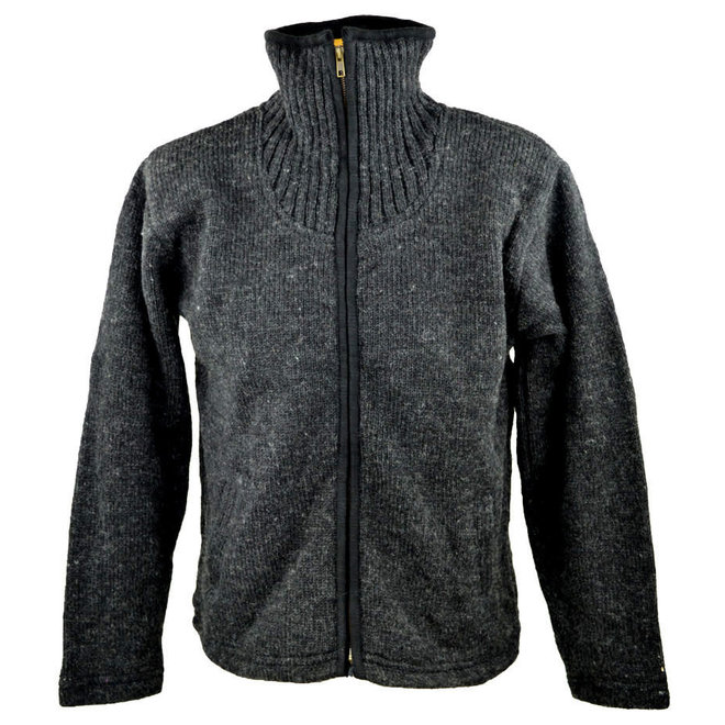 Adult Black Placket Sweater