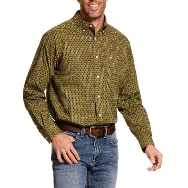 Mens Olive Bamberg Button Shirt