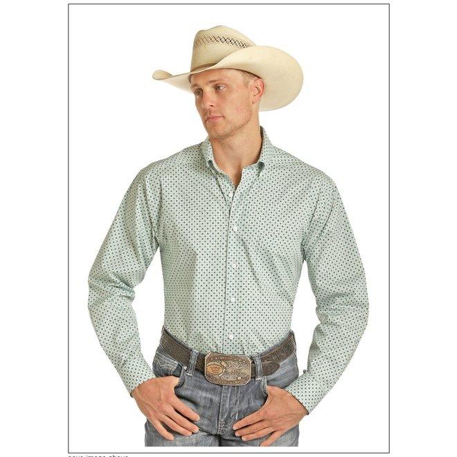 Mens Tuf Cooper Green Print Shirt