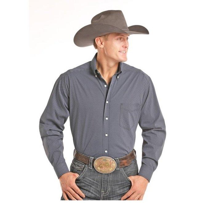 Mens TC Grey Print Shirt