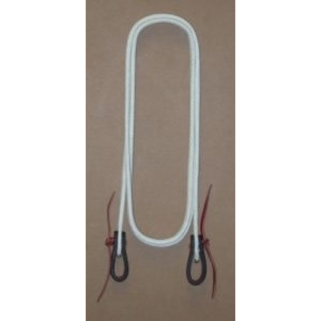 "Flat Waxed 1"" Rope Rein"