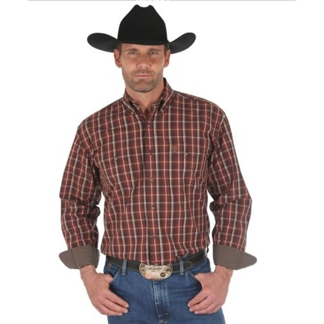 Mens GS Brown Plaid Shirt