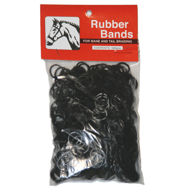 Rubber Mane Bands Available in 3 Colors