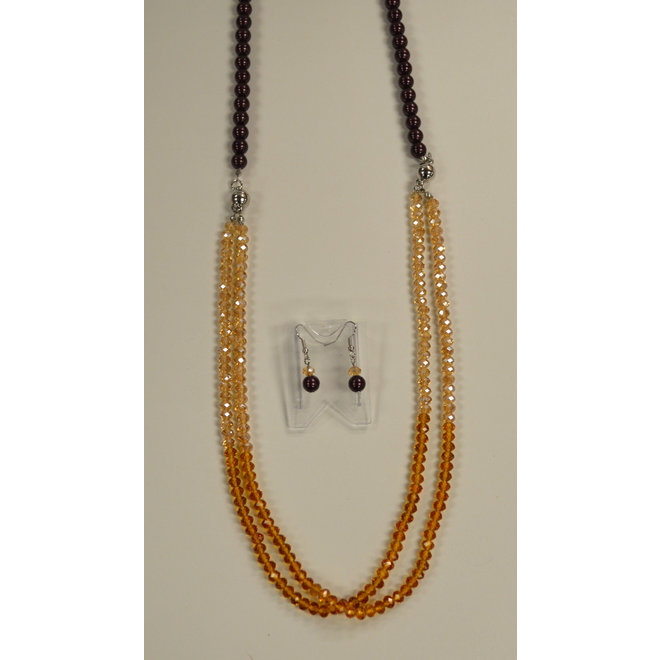 2Tone Beaded Necklace